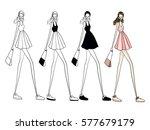 fashion vector illustration ... | Shutterstock .eps vector #577679179