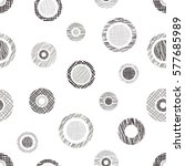 seamless vector geometrical... | Shutterstock .eps vector #577685989