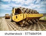 heavy duty road building... | Shutterstock . vector #577686934