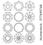 set of geometric shapes. sacred ... | Shutterstock .eps vector #577690768