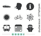 transport icons. car  bicycle ... | Shutterstock .eps vector #577691644