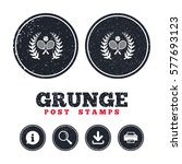 grunge post stamps. tennis...   Shutterstock .eps vector #577693123