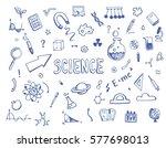 hand drawn set of cartoon... | Shutterstock .eps vector #577698013
