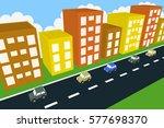 3d city illustration   Shutterstock . vector #577698370