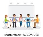 group of working people ... | Shutterstock .eps vector #577698913