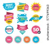 sale banners  online web... | Shutterstock .eps vector #577699363
