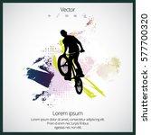 bmx freestyle. sport background | Shutterstock .eps vector #577700320
