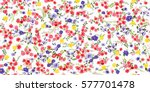 simple cute pattern in small... | Shutterstock .eps vector #577701478