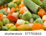 frozen vegetables background ... | Shutterstock . vector #577702810