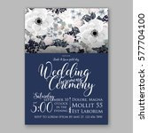 anemone wedding invitation card ... | Shutterstock .eps vector #577704100