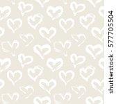 seamless heart pattern. hand... | Shutterstock .eps vector #577705504