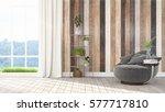 modern bright interior . 3d... | Shutterstock . vector #577717810