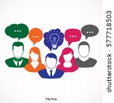 people icons with colorful... | Shutterstock .eps vector #577718503