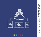 cloud technology vector icon.... | Shutterstock .eps vector #577725340