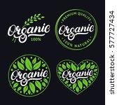 set of organic hand written... | Shutterstock .eps vector #577727434
