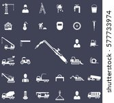 tools for cutting metal and... | Shutterstock .eps vector #577733974