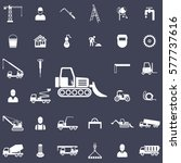 loader icon. construction icons ... | Shutterstock .eps vector #577737616
