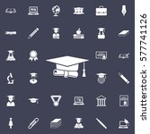 graduation cap and diploma icon.... | Shutterstock .eps vector #577741126