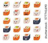sushi emoji vector set. emoji... | Shutterstock .eps vector #577741690