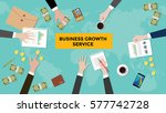 business growth service concept ... | Shutterstock .eps vector #577742728