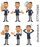 6 kinds of poses and gestures... | Shutterstock .eps vector #577744360