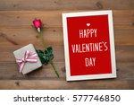 happy valentine's day card ... | Shutterstock . vector #577746850