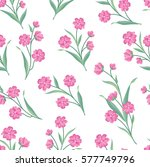 flowers seamless pattern.... | Shutterstock .eps vector #577749796