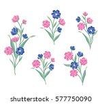 floral bouquet set. wild ... | Shutterstock .eps vector #577750090