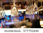 a lot of glasses of champagne... | Shutterstock . vector #577752640