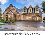 beautiful  newly built luxury... | Shutterstock . vector #577752769