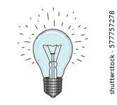 light bulb. doodle hand drawn... | Shutterstock .eps vector #577757278