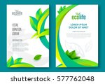eco brochure design vector... | Shutterstock .eps vector #577762048