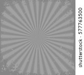 gray grunge rays background | Shutterstock .eps vector #577763500