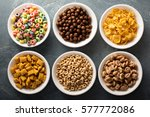 Variety Of Cold Cereals In...