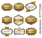 luxury premium golden labels... | Shutterstock .eps vector #577772188