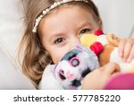 cute smiling little blond... | Shutterstock . vector #577785220