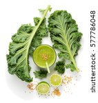 Top View Of Green Smoothie Fro...