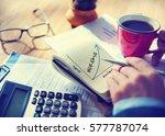 business success graphic upward ... | Shutterstock . vector #577787074