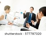 powerful businessman as a... | Shutterstock . vector #577787320