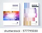 company profile template. cover ... | Shutterstock .eps vector #577795030