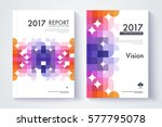 company profile template. cover ... | Shutterstock .eps vector #577795078