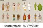 traditional costumes by country ...   Shutterstock .eps vector #577799389