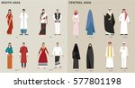 traditional costumes by country ... | Shutterstock .eps vector #577801198