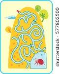 maze for children. activity... | Shutterstock .eps vector #577802500