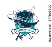 fishing icon or fisher club... | Shutterstock .eps vector #577809100