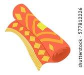 arabic carpet icon. cartoon... | Shutterstock .eps vector #577812226