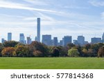 the great lawn in central park... | Shutterstock . vector #577814368