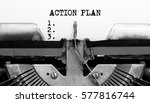 vintage typewriter with text... | Shutterstock . vector #577816744