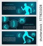 medical banner template set... | Shutterstock .eps vector #577821028