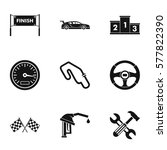 speed cars icons set. simple... | Shutterstock . vector #577822390
